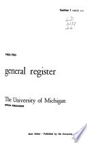 University of Michigan Official Publication Book
