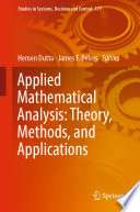 Applied Mathematical Analysis  Theory  Methods  and Applications