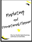 Marketing And Promotional Planner