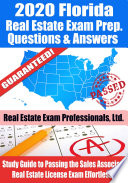 2020 Florida Real Estate Exam Prep Questions & Answers
