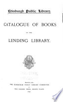 Catalogue of Books in the Lending Library Book