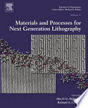 Materials and Processes for Next Generation Lithography Book