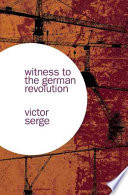 Witness to the German Revolution Book