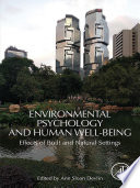 Environmental Psychology and Human Well Being Book