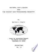 Natural Gas Liquids and the Soviet Gas Processing Industry