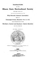 Annual Report and Proceedings of the ... Annual Meeting of the Illinois State Horticultural Society for the Year ...