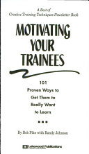 Motivating Your Trainees