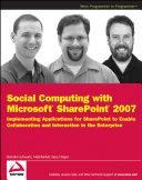 Social Computing with Microsoft SharePoint 2007 Book