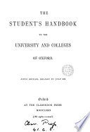 The Student s Handbook to the University and Colleges of Oxford Book