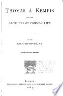Thomas À Kempis and the Brothers of the Common Life