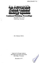 An Acceptable Future Nuclear Energy System Book