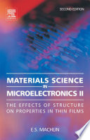 Materials Science in Microelectronics II Book