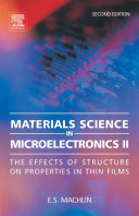 Materials Science in Microelectronics II