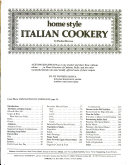Home Style Italian Cookery Book