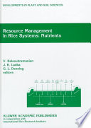 Resource Management In Rice Systems Nutrients
