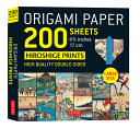 Origami Paper 200 Sheets Hiroshige Prints 6 3 4   17 CM   Large Tuttle Origami Paper  High Quality Double Sided Origami Sheets Printed with 12 Differe