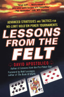 Pdf Lessons From The Felt: Advanced Strategies And Tactics For No-limit Hold'em Tournaments