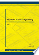 Advances in Civil Engineering, ICCET 2011