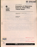 Evaluation of Alternative Fuels for Urban Mass Transit Buses Book