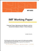 Financial Crises, Macroeconomic Shocks, and the Government Balance Sheet: A Panel Analysis