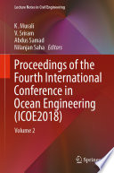 Proceedings of the Fourth International Conference in Ocean Engineering  ICOE2018  Book