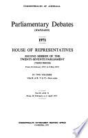 Parliamentary Debates (Hansard)  : House of Representatives , Band 71