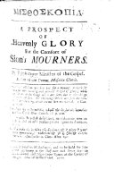 A Prospect of Heavenly Glory for the Comfort of Sion s Mourners   Edited by Daniel Williams