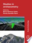 Studies In Archaeometry