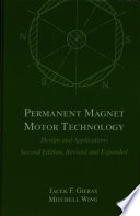 Permanent Magnet Motor Technology Book PDF
