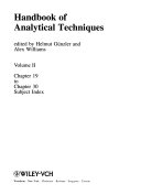 Handbook of Analytical Techniques