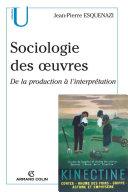 Pdf Sociologie des oeuvres Telecharger