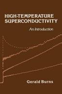 High Temperature Superconductivity Book