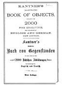 Kantner s Illustrated Book of Objects  Containing Over 2000 Fine Engravings