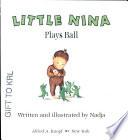 Little Nina plays ball