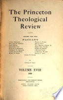 The Princeton Theological Review