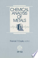 Chemical Analysis of Metals