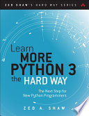 Learn More Python 3 the Hard Way Book PDF