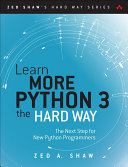 Learn More Python 3 the Hard Way Pdf/ePub eBook