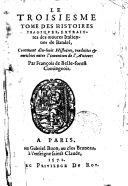 Le troisieme tome des histoires tragiques, extraittes des oeuvres italiennes de Bandel, contenant 18 histoires