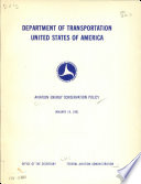 Aviation energy conservation policy