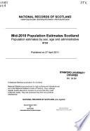 Population Estimates, Scotland