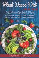 Plant Based Diet Plan Book
