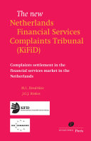Pdf The New Netherlands Financial Services Complaints Tribunal (KiFiD)