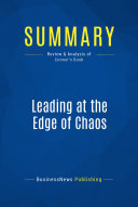 Summary  Leading at the Edge of Chaos