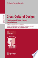 Cross Cultural Design  Experience and Product Design Across Cultures Book