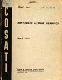 Corporate Author Headings