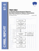 FREZCHEM2: A Chemical Thermodynamic Model for Electrolyte Solutions at subzero Temperatures ebook