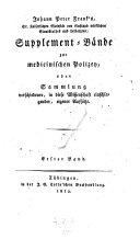 Supplement-Bände zur medicinischen Polizey. Erster Band