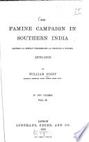 The famine campaign in Southern India0