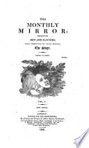 The Monthly Mirror Reflecting Men And Manner